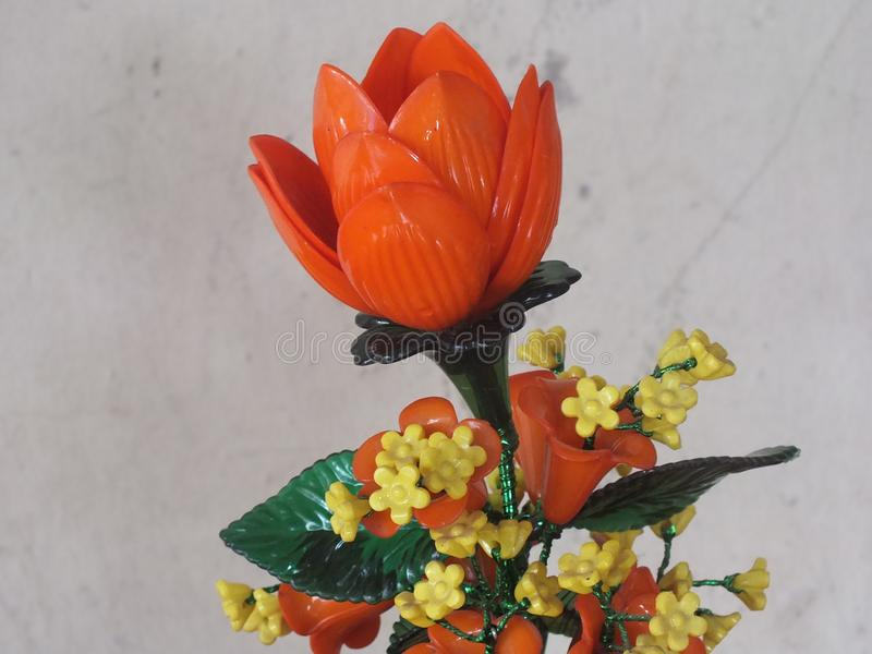 Piękne Plastikowe róże fotografia royalty free