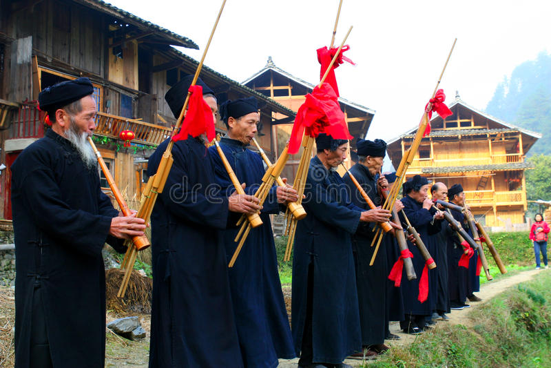 piękne porcelanowe Guizhou oryginału wioski obrazy stock