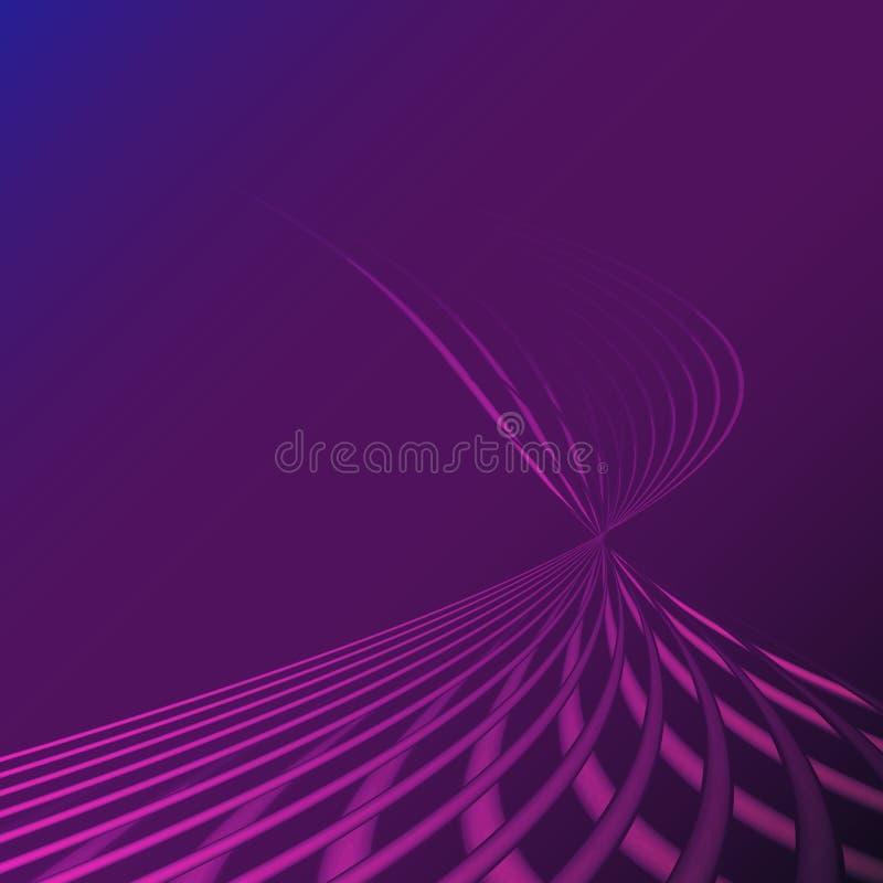 Piękne purpury różowią abstrakcjonistyczna magiczna energetyczna elektryczna spirala przekręcać pozaziemskie pożarnicze kratownic royalty ilustracja