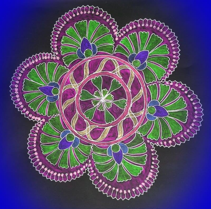 Piękne, różne kolory mandala obraz stock