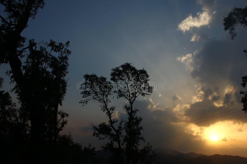 Piękne sceny w Mukteshwar w Uttarakhand prowincji w India obrazy royalty free