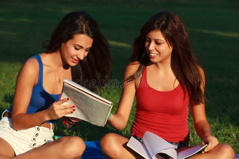 Piękne szkół wyższa dziewczyny obraz stock