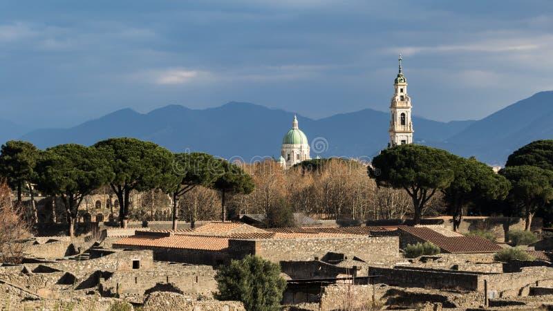 Piękne ulicy Pompeii fotografia royalty free