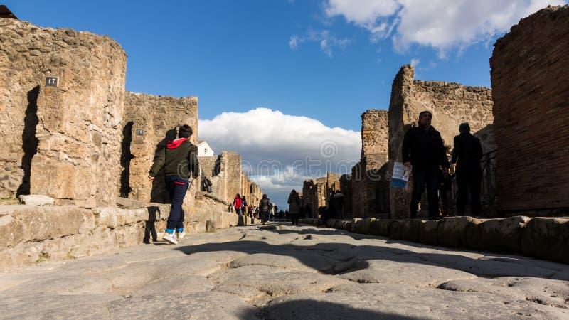 Piękne ulicy Pompeii zdjęcia royalty free