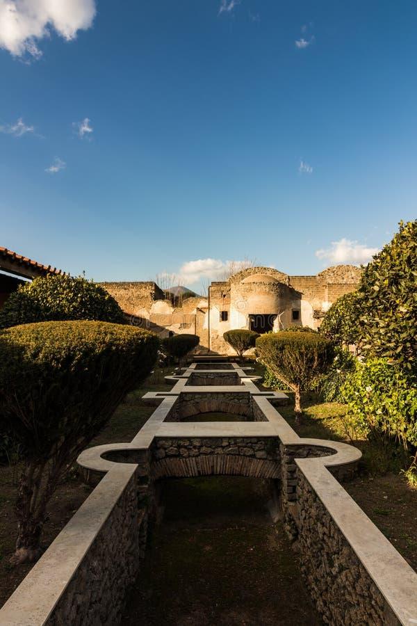 Piękne ulicy Pompeii zdjęcia stock