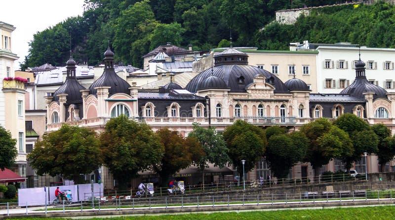 Piękne ulicy Salzburg, Salzburger ziemia, Austria zdjęcie stock