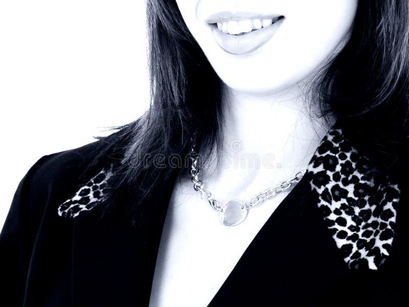 piękne usta z blue tone. obraz stock