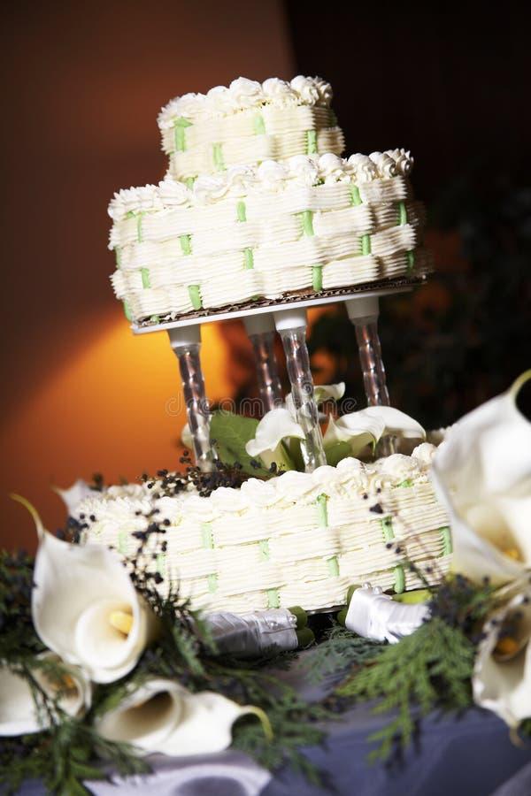 piękne wesele ciasta fotografia stock