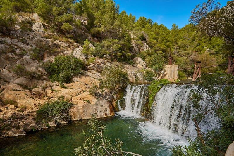 Piękne Wodospady Algar, Alicante Hiszpania zdjęcie royalty free