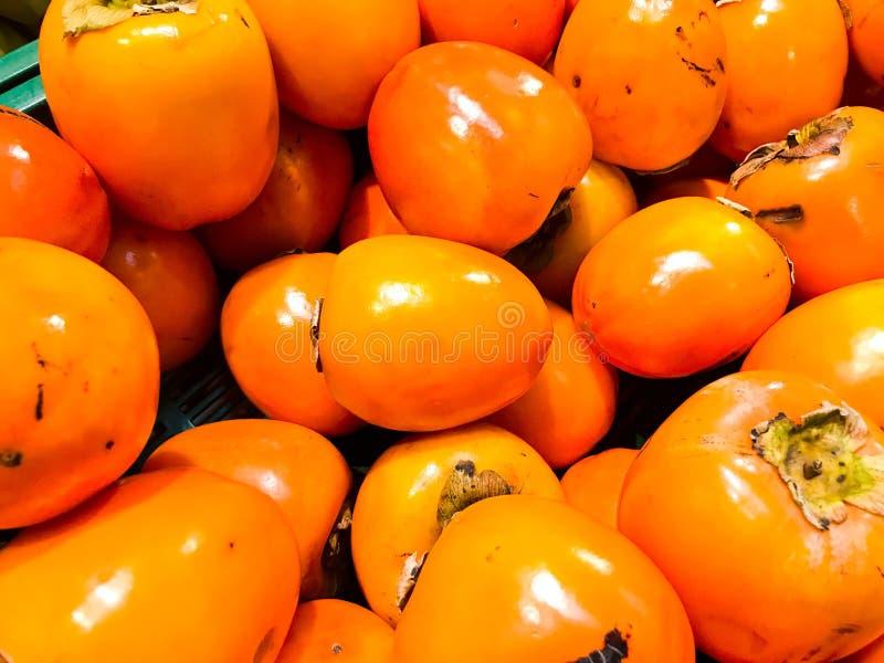 Pięknego żółtego pomarańczowego naturalnego słodkiego smakowitego dziewiarskiego dojrzałego miękkiego round duży jaskrawy jaskraw obraz royalty free