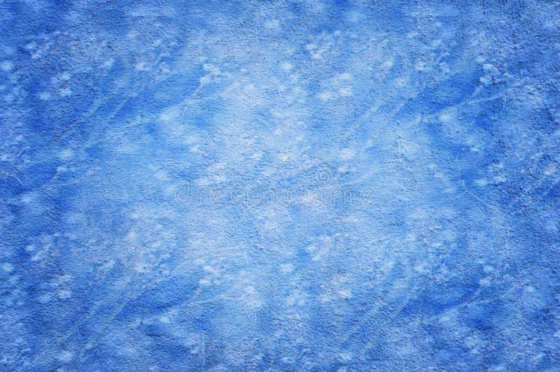 Pięknego Abstrakcjonistycznego Grunge stiuku ściany Dekoracyjny błękitny tło ilustracji
