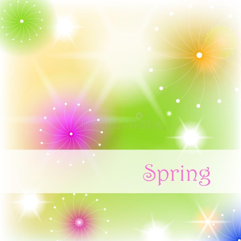 pięknego bokeh kwiecista ilustracyjna wiosna royalty ilustracja
