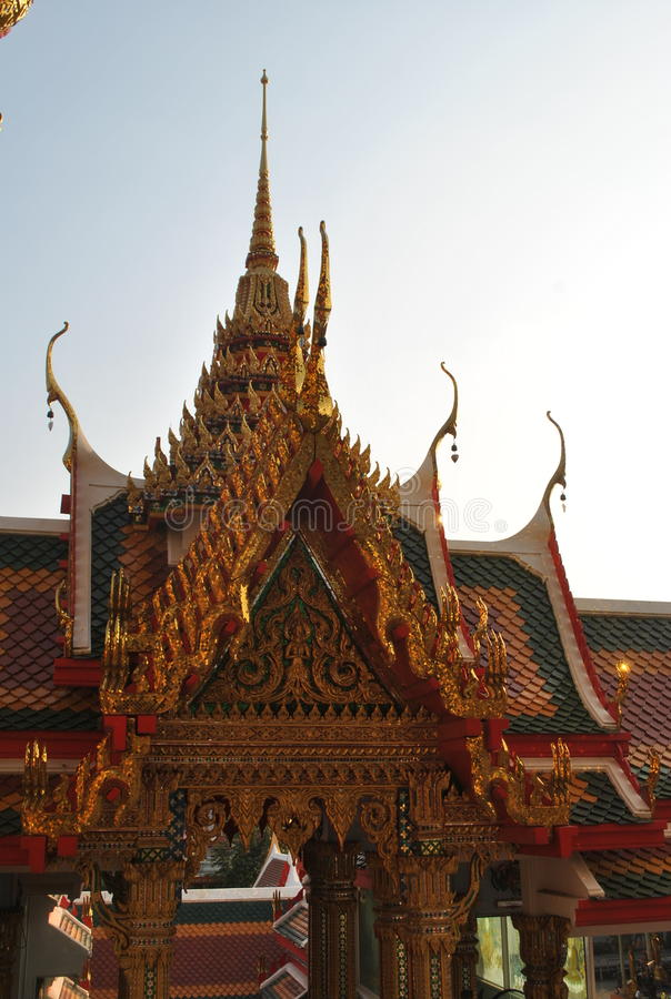 Pięknego buddyjskiego budynku wata buakwan nonthaburi Thailand obraz royalty free