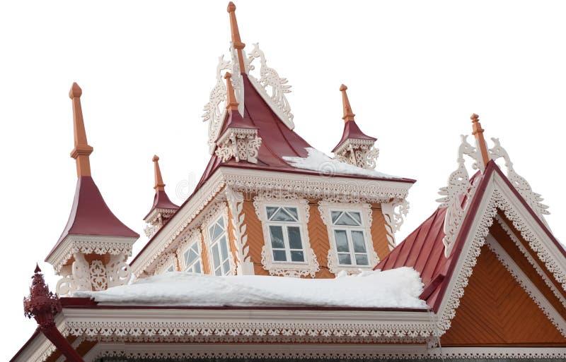 pięknego buildng stary dachowy drewniany fotografia royalty free