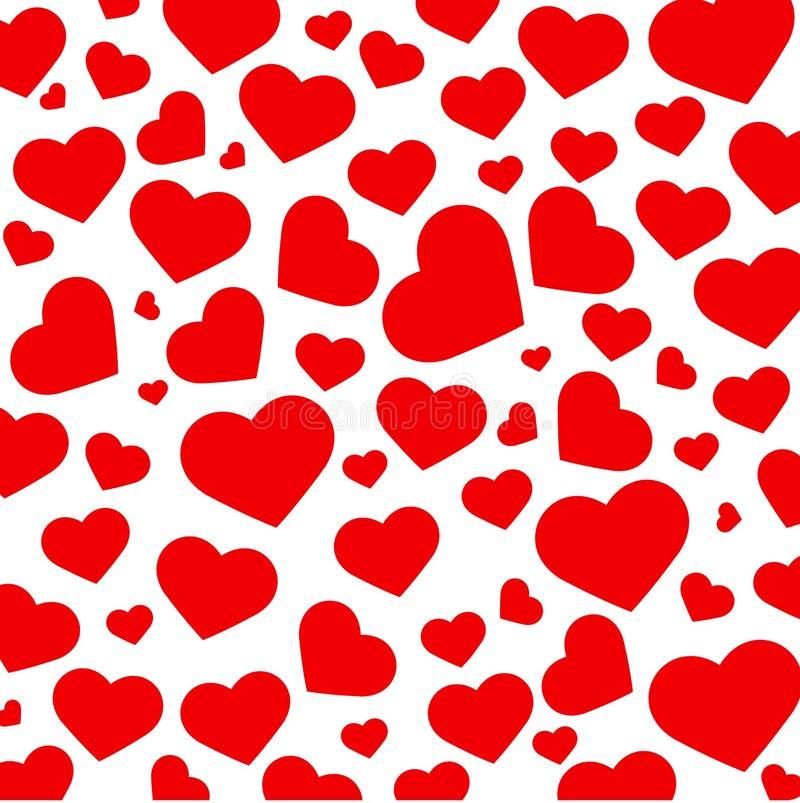 """Pięknego czerwonego serca tła †""""wektor royalty ilustracja"""