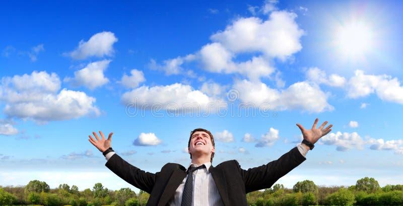 pięknego dzień szczęśliwego mężczyzna nowy pogodny fotografia stock