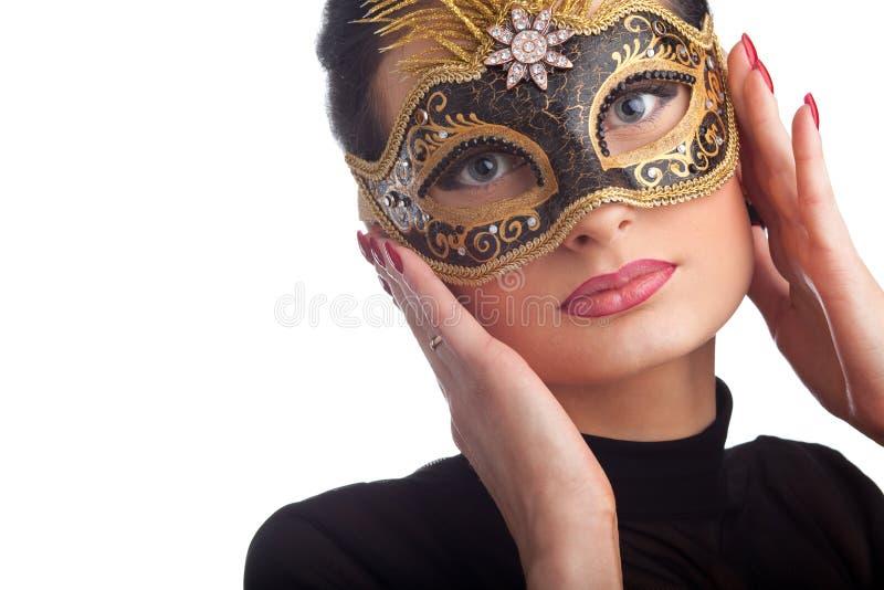 Download Pięknego Karnawału Maskowa Target1275_0_ Kobieta Obraz Stock - Obraz złożonej z piłka, highlight: 13339353