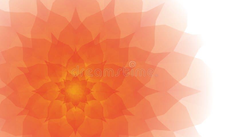 Pięknego kwiatu półprzezroczysty wielobok ilustracja wektor