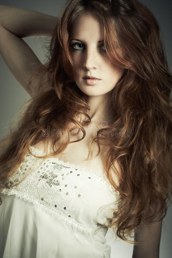 pięknego mody portreta piękna kobieta obrazy royalty free
