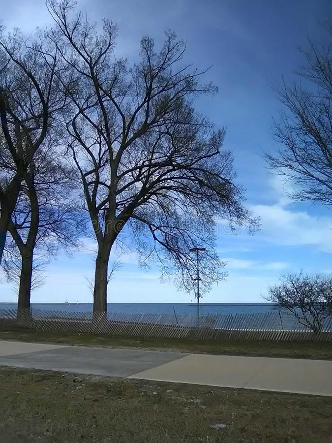 Pięknego nieba Indiana kraju jaskrawy dzień obrazy stock