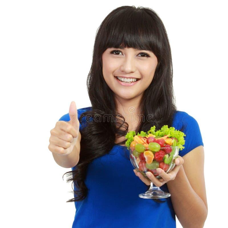 pięknego owoc szklanego mienia ogromni kobiety potomstwa obrazy stock