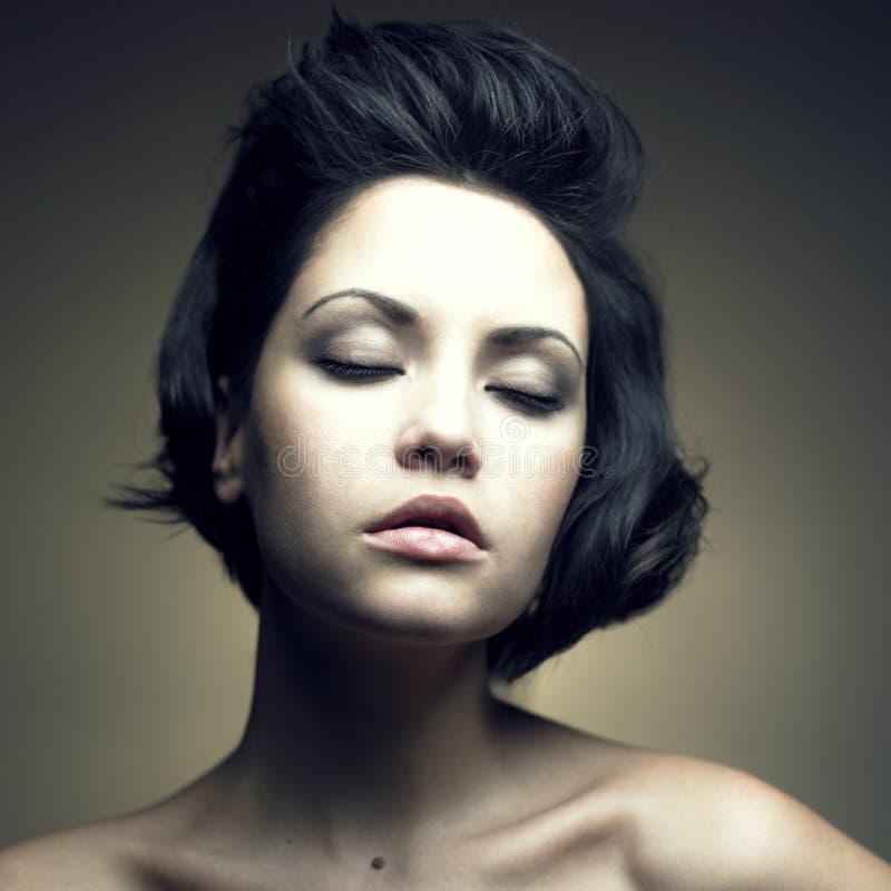 pięknego portreta zmysłowa kobieta zdjęcia royalty free