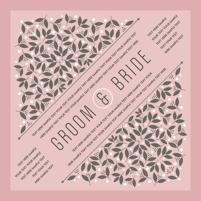 Pięknego rocznika zaproszenia kwiecista karta również zwrócić corel ilustracji wektora ilustracji