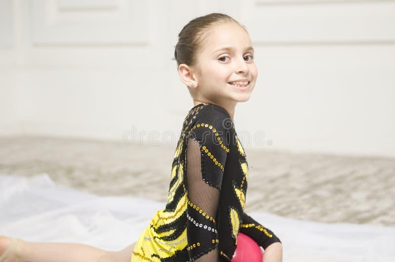 Pięknego sporta dziewczyny stażowy portret obraz stock