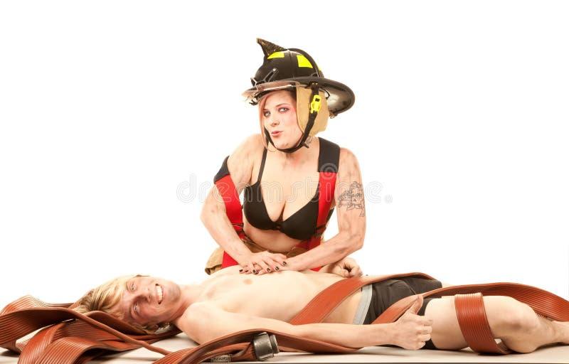 pięknego strażaka szczęśliwy mężczyzna target792_0_ zdjęcie royalty free