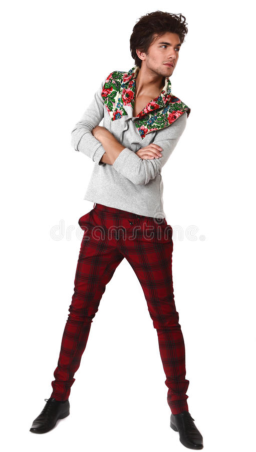 pięknego ubrań projekta wyłączny mężczyzna obrazy royalty free