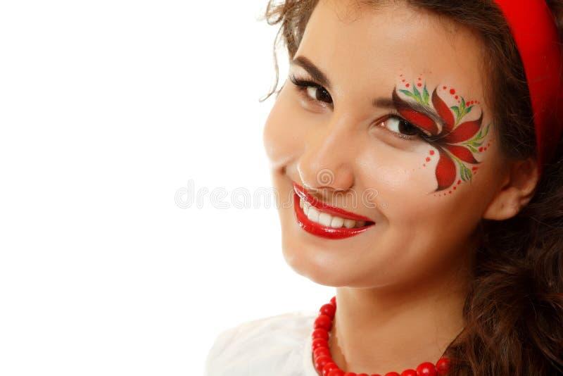 Pięknego ukraińskiego młodego womanwith artystyczny makeup zdjęcie stock