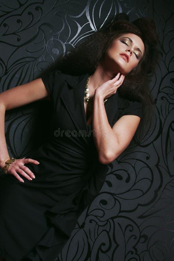 pięknego włosy portreta kobiety dłudzy potomstwa zdjęcie royalty free