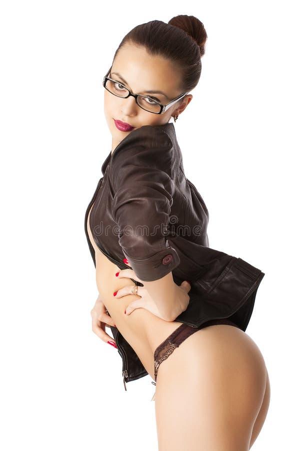 pięknej brunetki target1242_0_ potomstwa zdjęcie royalty free