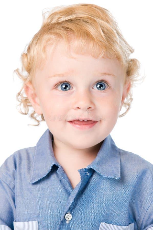 pięknej chłopiec mały portret fotografia royalty free