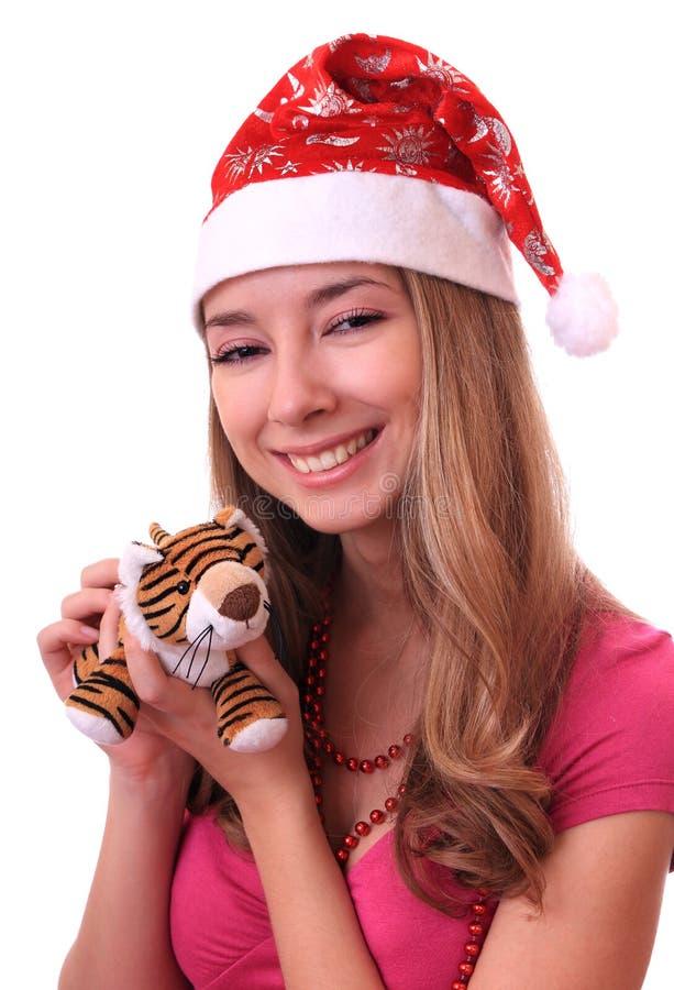 pięknej dziewczyny nowy tygrysi rok obrazy stock