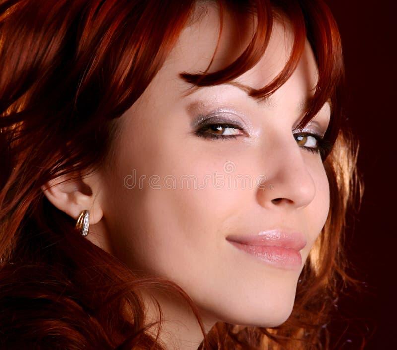 pięknej dziewczyny portreta włosiana czerwień obrazy royalty free