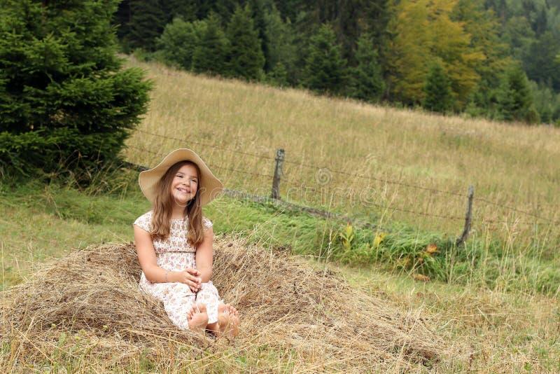 pięknej dziewczyny szczęśliwy mały zdjęcie royalty free