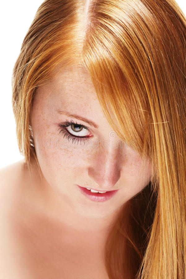pięknej dziewczyny włosiana portreta rudzielec obraz royalty free