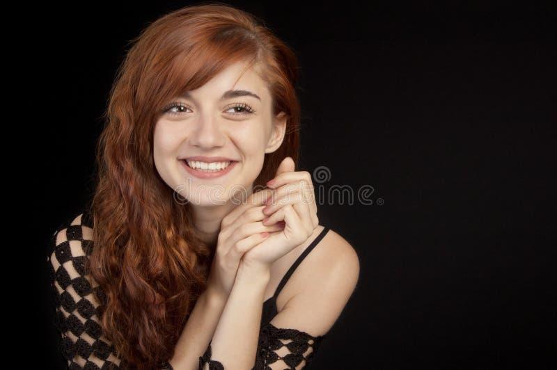pięknej dziewczyny z włosami czerwony ja target3752_0_ obrazy royalty free