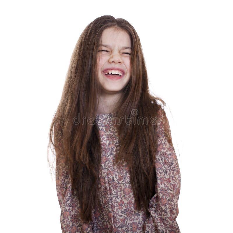 Pięknej dziewczyny zabawy prawdziwy śmiać się zdjęcie stock