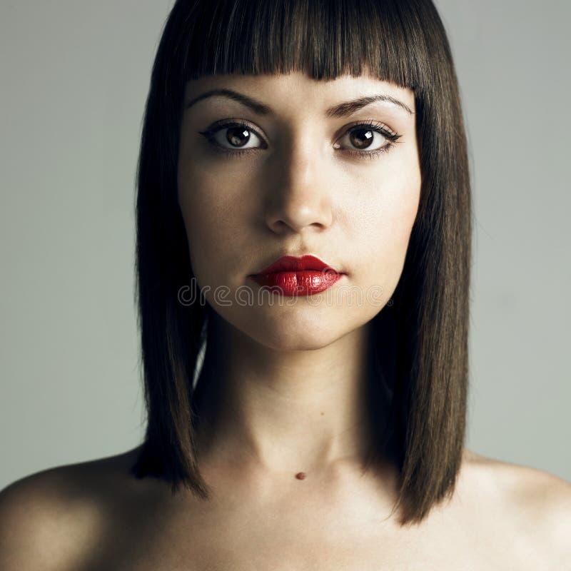 pięknej fryzury surowi kobiety potomstwa obrazy stock