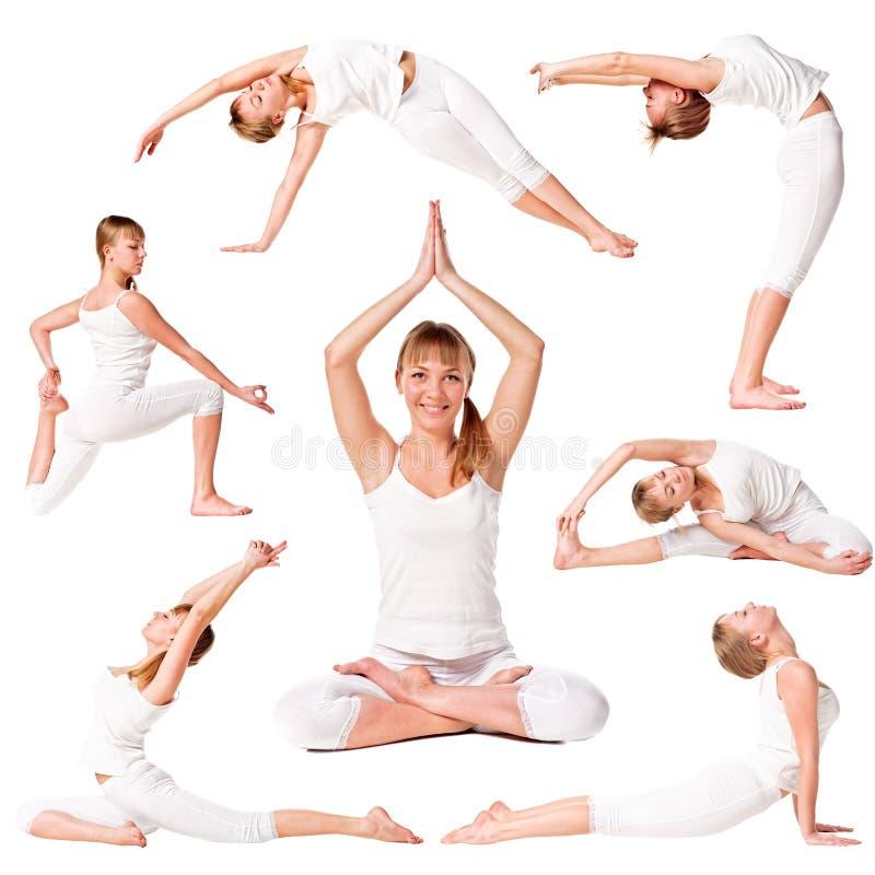 pięknej inkasowej dziewczyny ćwiczyć joga obrazy royalty free