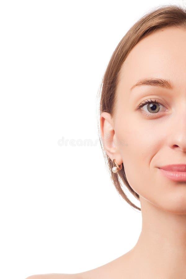 Pięknej kobiety twarzy kosmetologii przyrodni piękno zdjęcia royalty free