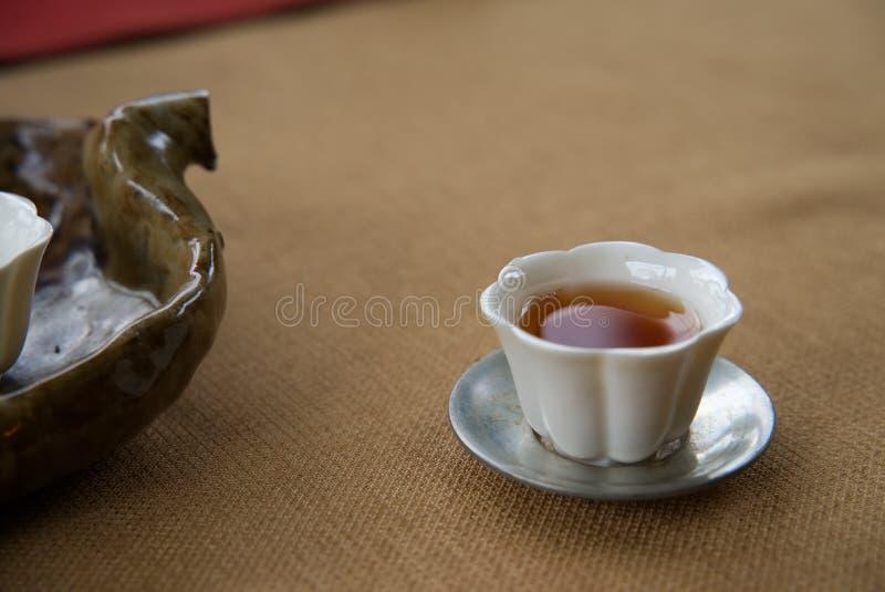Pi?knej rocznik porcelany Herbaciana fili?anka zdjęcia royalty free