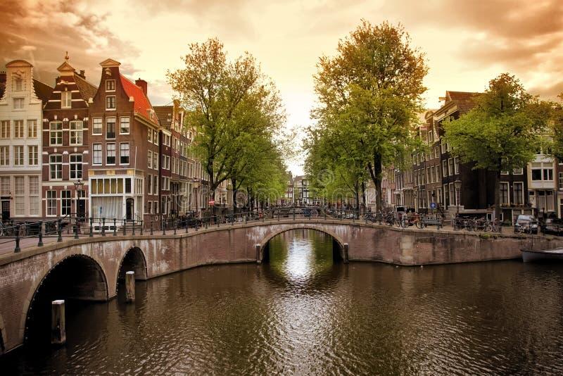 Amsterdam kanały fotografia royalty free