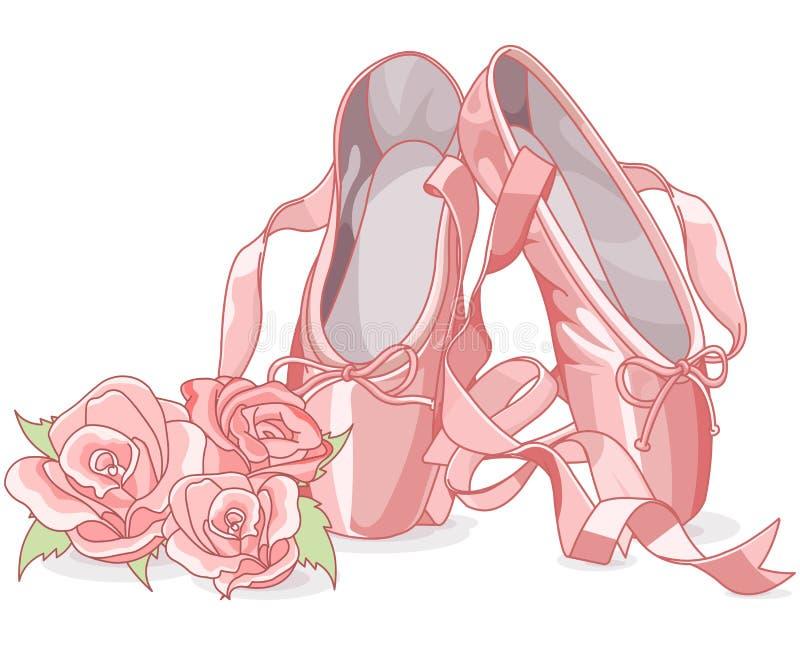 Piękni baletniczy kapcie