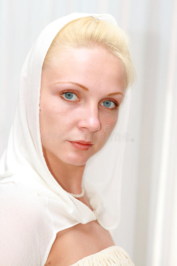 piękni blondynki modela potomstwa fotografia stock