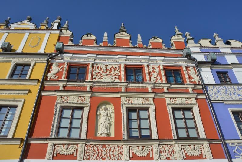 Piękni budynki w Zamojskim fotografia stock