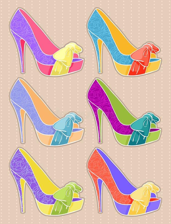 Piękni buty ilustracji