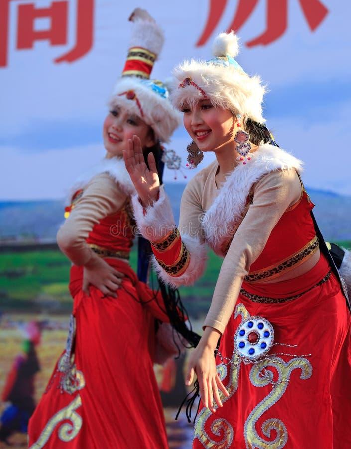 piękni chińscy tancerze fotografia stock